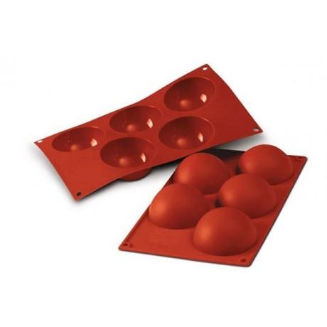 Moule en silicone 5 demi sphères Ø80