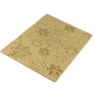 Tapis relief en silicone flocons