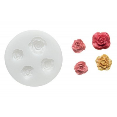 Moule en silicone roses Silikomart