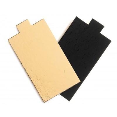 Mini carton rectangulaire or et noir 13x4,5cm