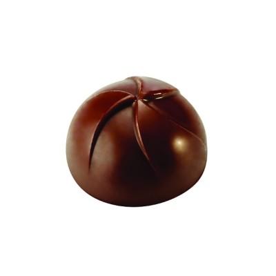 Moule à chocolat en polycarbonate 1/2 sphère striée pavoni