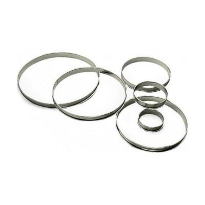 Cercle à tarte en inox Ø8cm H2cm