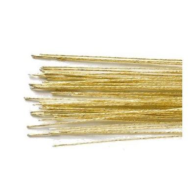 Lot de 50 fils florals doré 24 gauge