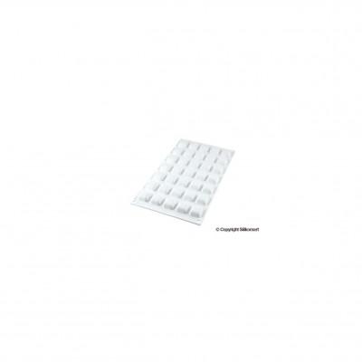 Moule en silicone 35 Micro carrés bombés Micro Gem