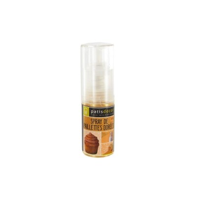 Spray de paillettes dorées 10g