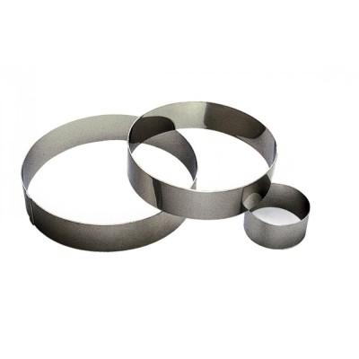 Cercle à mousse en inox Ø24cm H4,5cm 12pers
