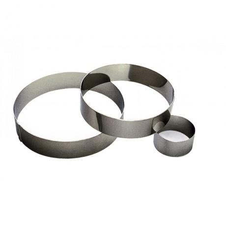 Cercle à mousse en inox Ø24 H4,5cm 10pers