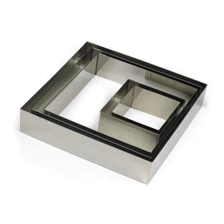 Carré inox 22x22 H4,5cm 12pers