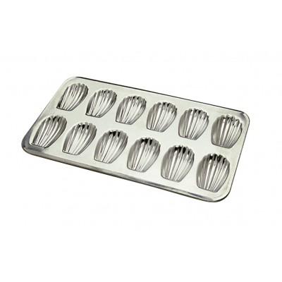 Moule à 12 madeleines en fer blanc gobel