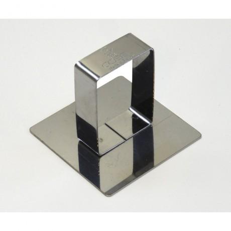 Poussoir carré en inox 5,8x5,8cm