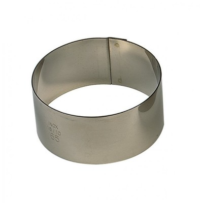 Cercle à entremet en inox Ø6 H3,5cm 1pers