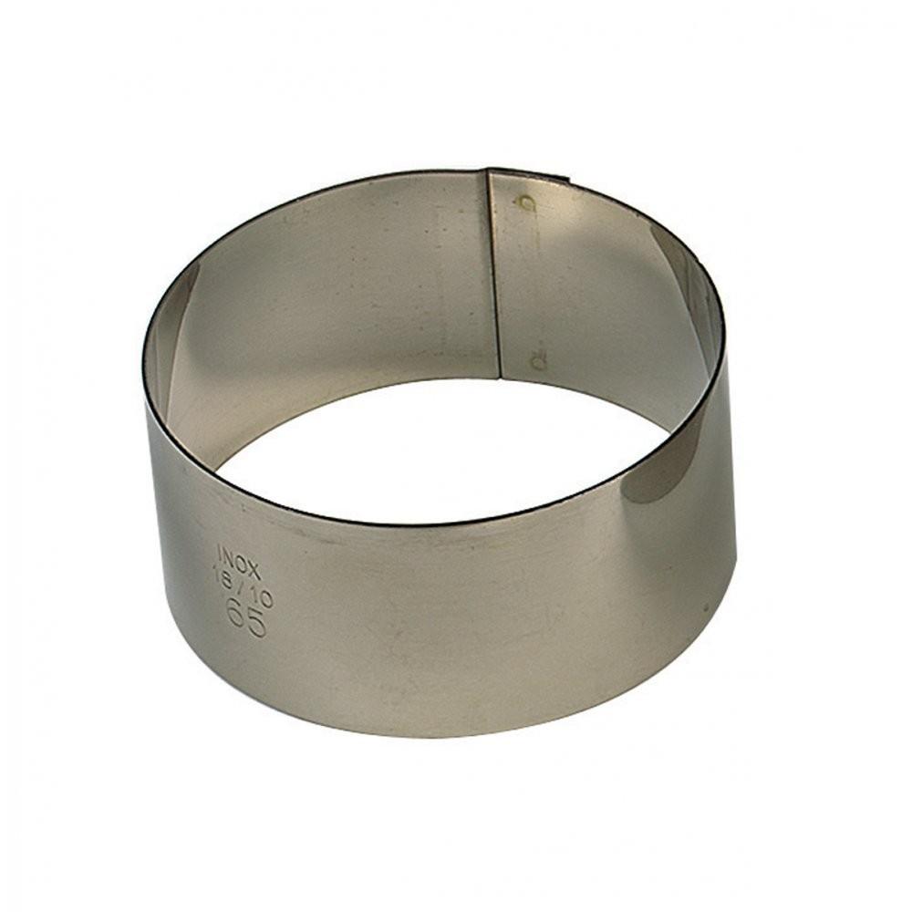Cercle à entremet en inox Ø6 H3cm 1pers
