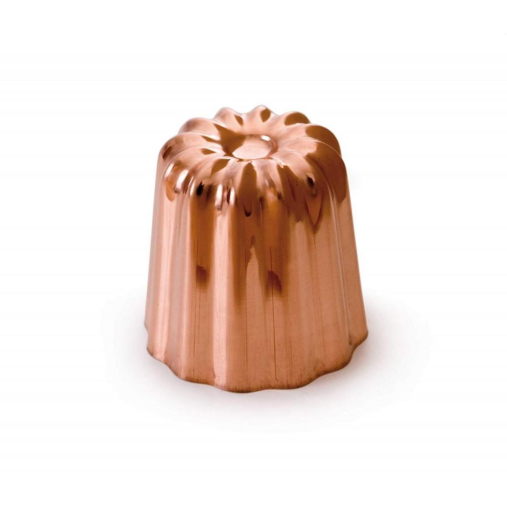 Moule à canelé bordelais en cuivre étamé Ø5.5cm