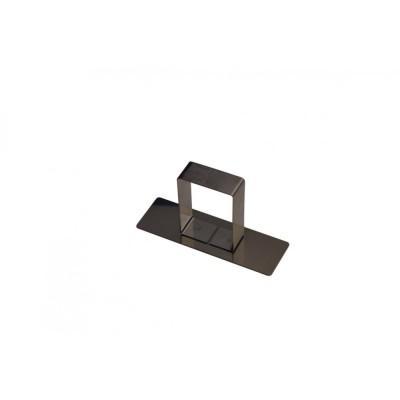 Poussoir rectangulaire en inox 8,8x2,8cm