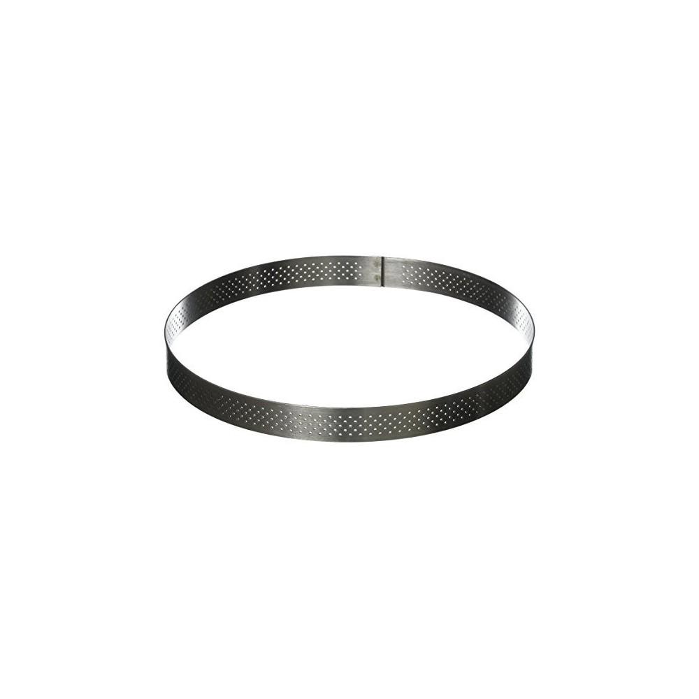 Cercle à tarte perforé en inox Ø18cm H2cm