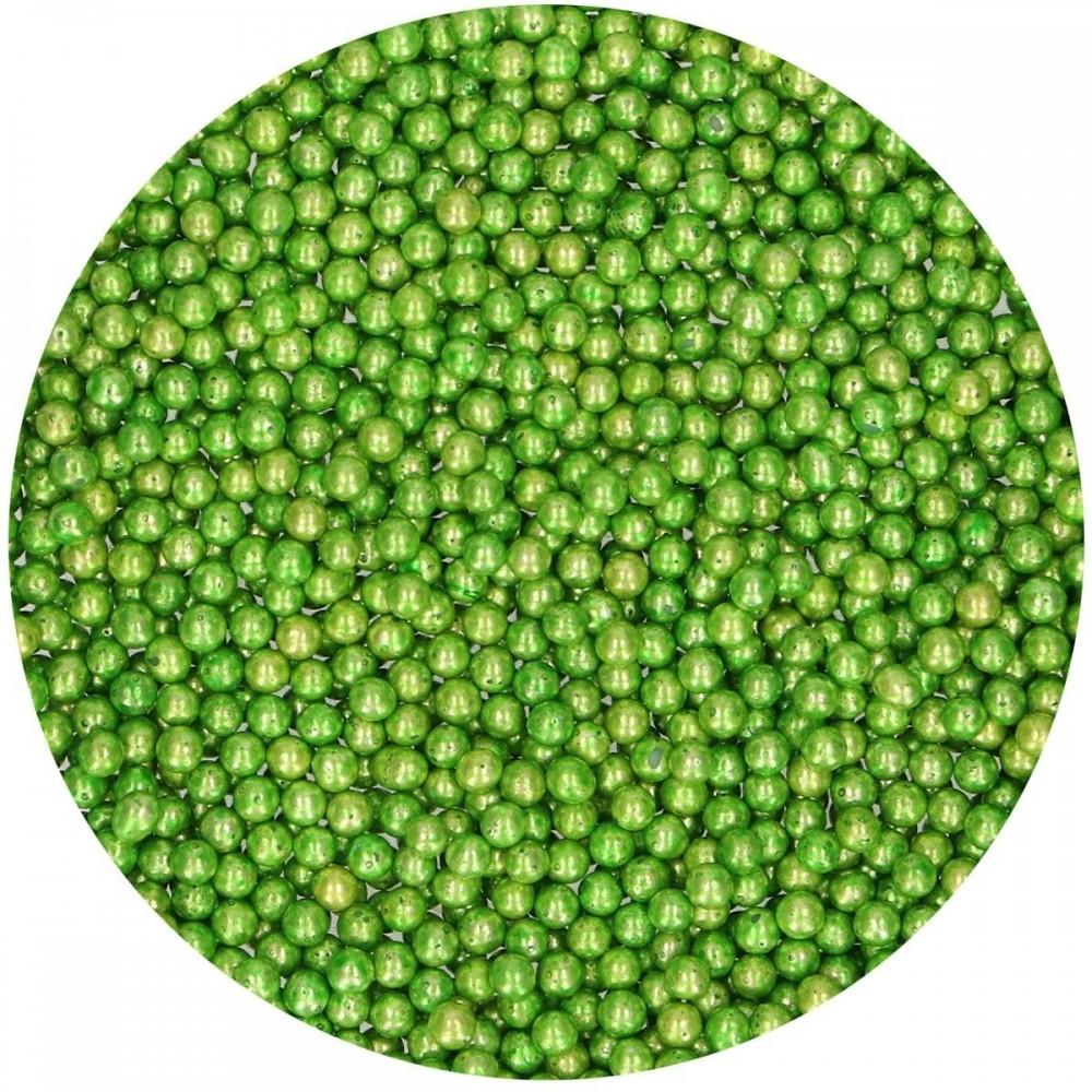 Perles de sucre métallique vert funcakes