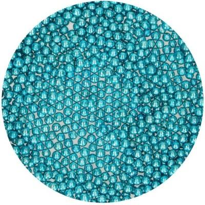 Perles de sucre métallique bleu funcakes