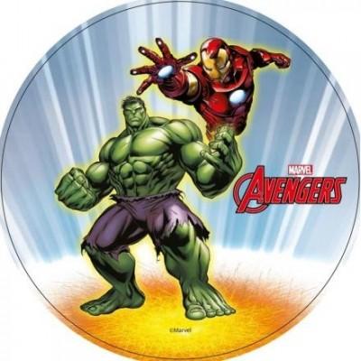 Disque en azyme Avengers 21cm