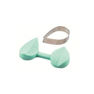 Moule en silicone avec emporte-pièce Feuille