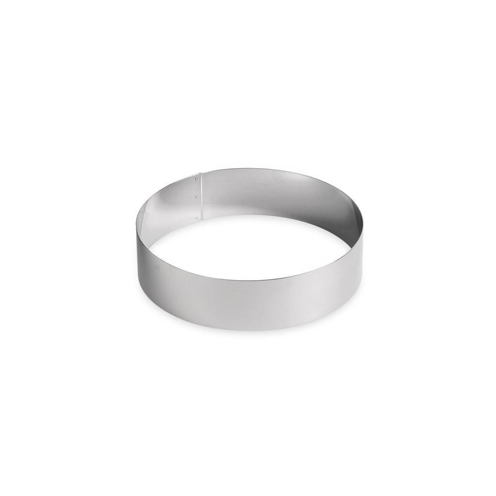 Cercle à vacherin en inox Ø22 H6cm