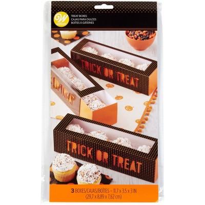 3 Boites à gâteau rectangulaire Halloween wilton