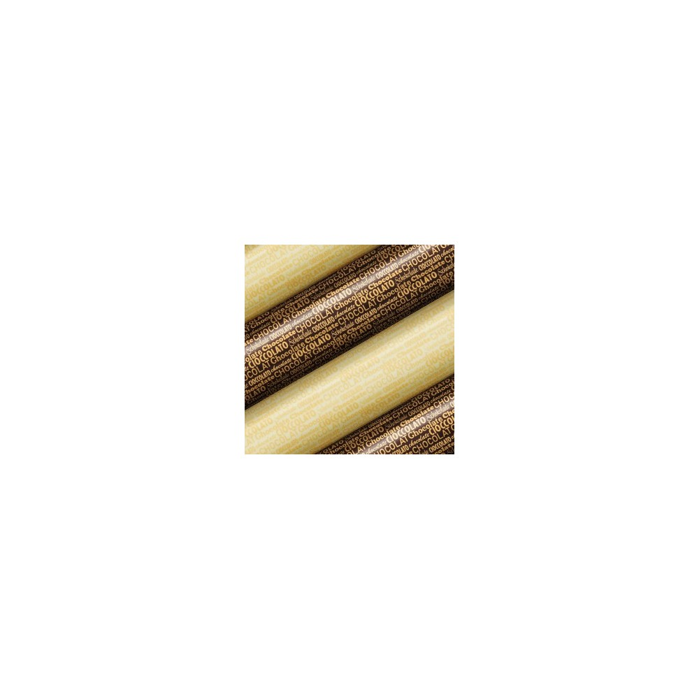 Feuilles de transfert écriture chocolat x2