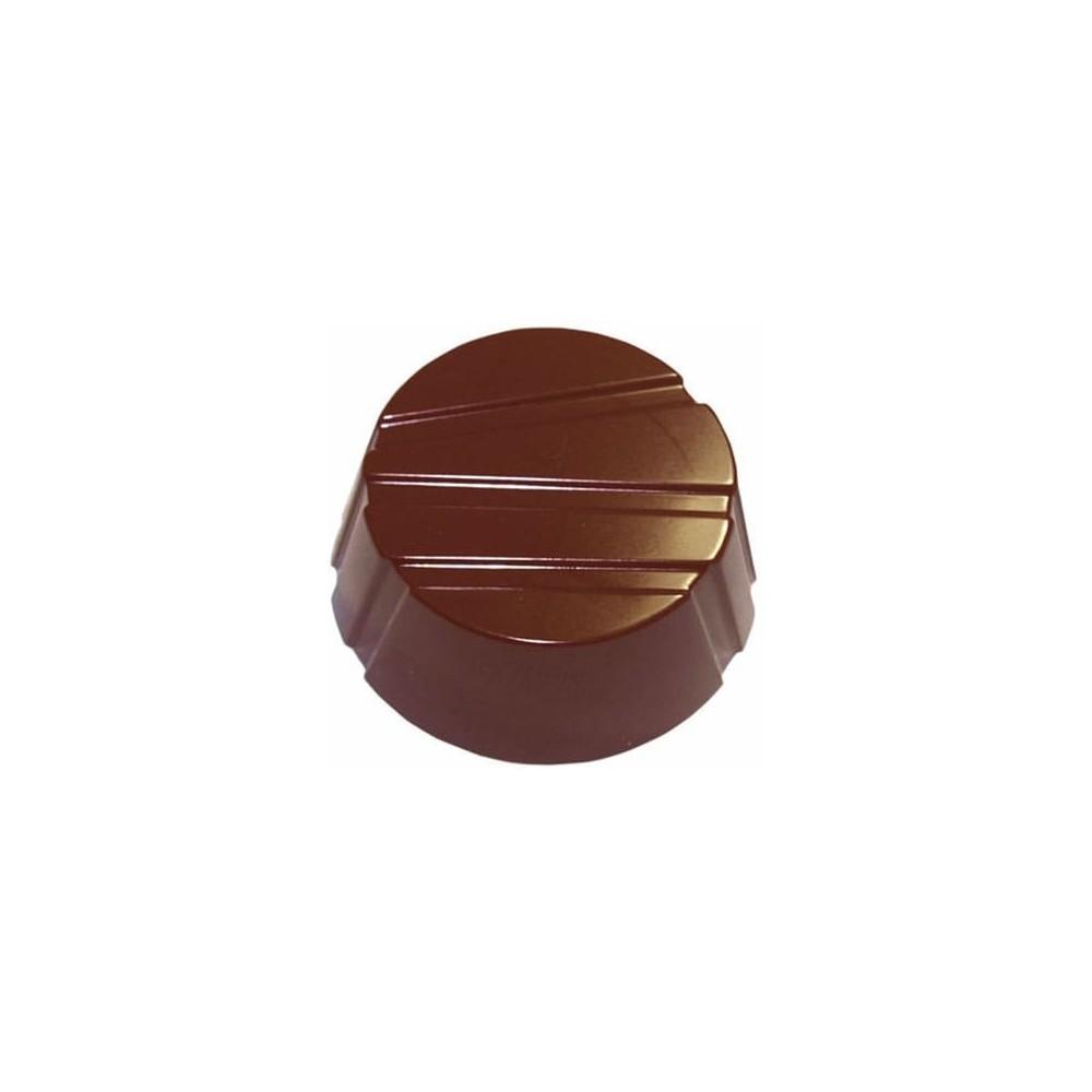 Moule à chocolat en polycarbonate ronds rayés