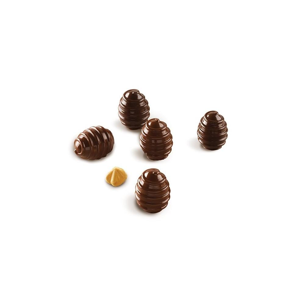 Moule à chocolat en silicone sphère Choco Spiral silikomart