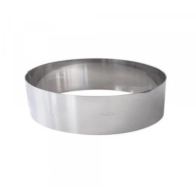 Cercle à vacherin en inox Ø24 H6cm