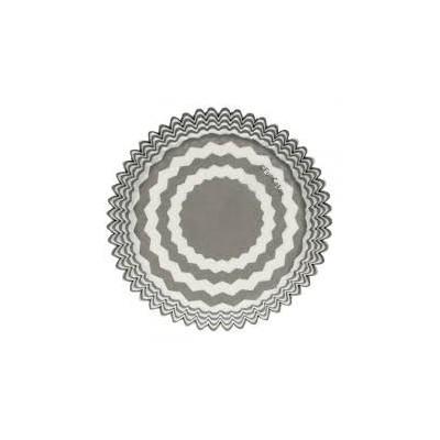 Caissettes chevron gris x48