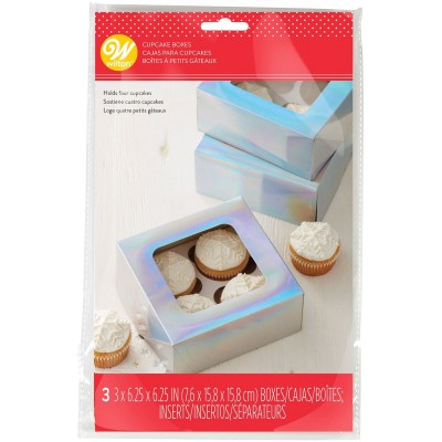 Boite à 4 cupcakes Iridescent /3