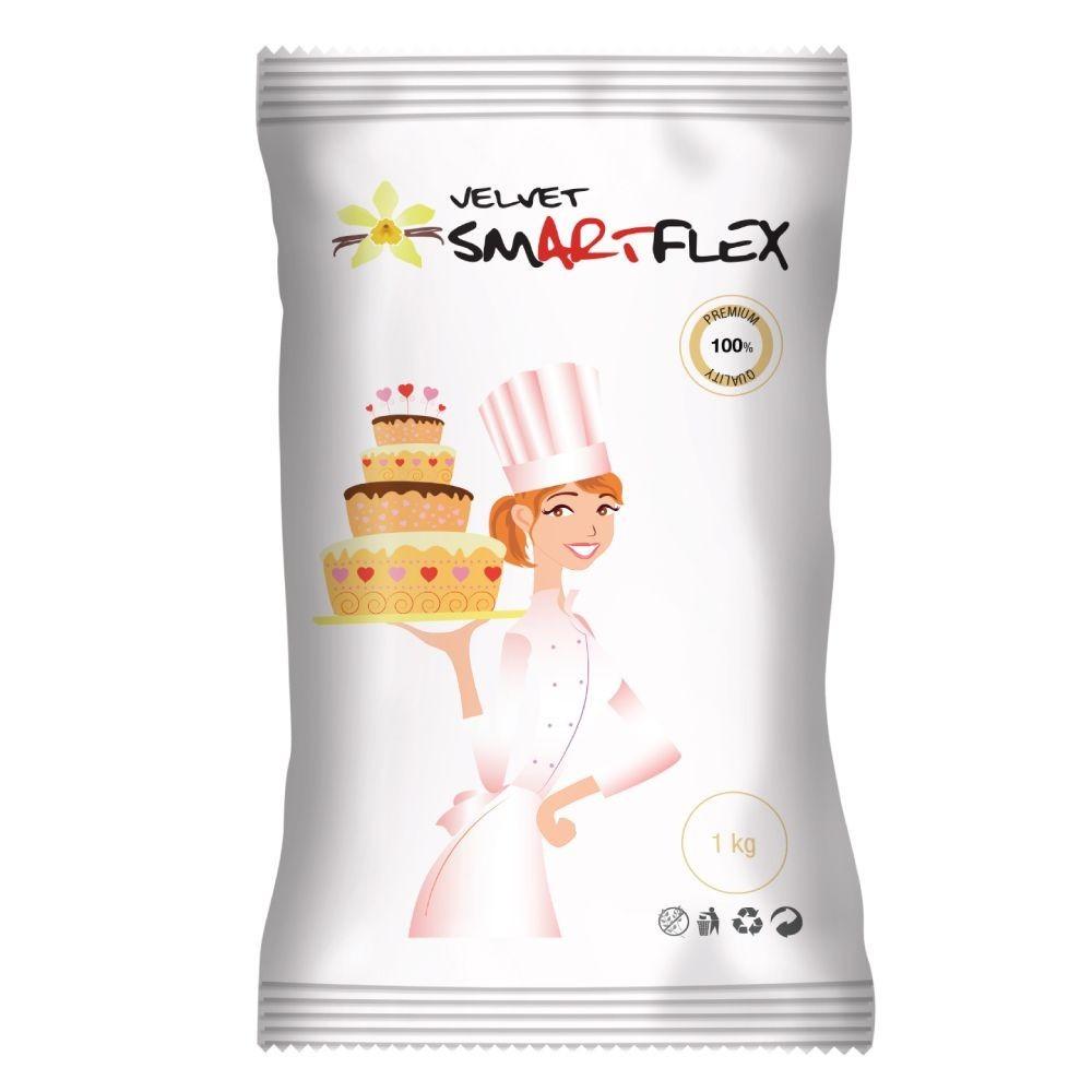 Pâte à sucre blanc velours Smartflex 1kg