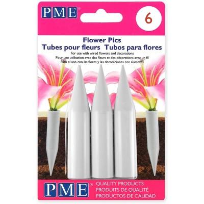 Tubes pour fleurs large x6 pme