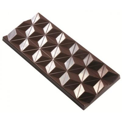 Moule à chocolat 3 tablettes géométriques
