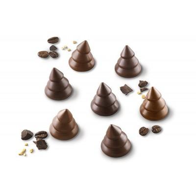 Moule à chocolat en silicone Choco Trees silikomart