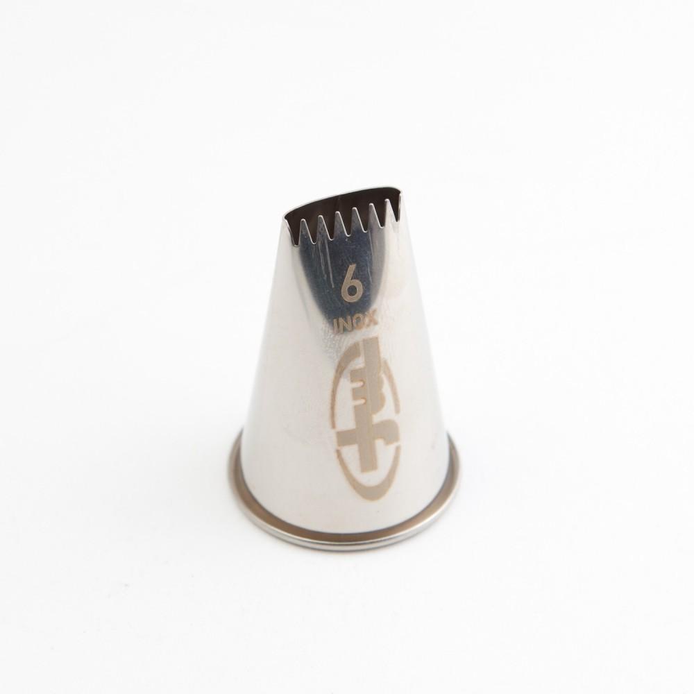 Douille à bûche 6 dents en inox