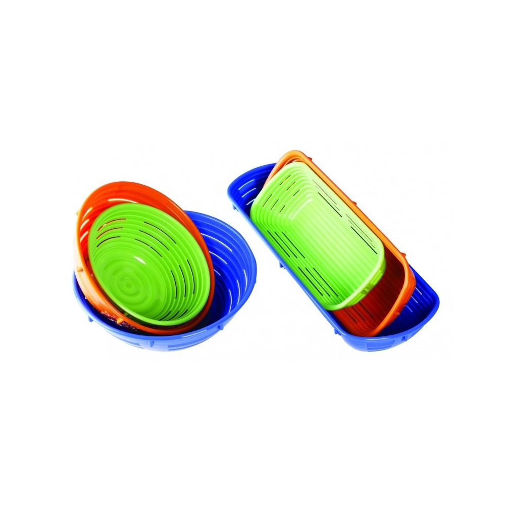 Banneton aéré en polypropylène vert rectangulaire 12x27cm