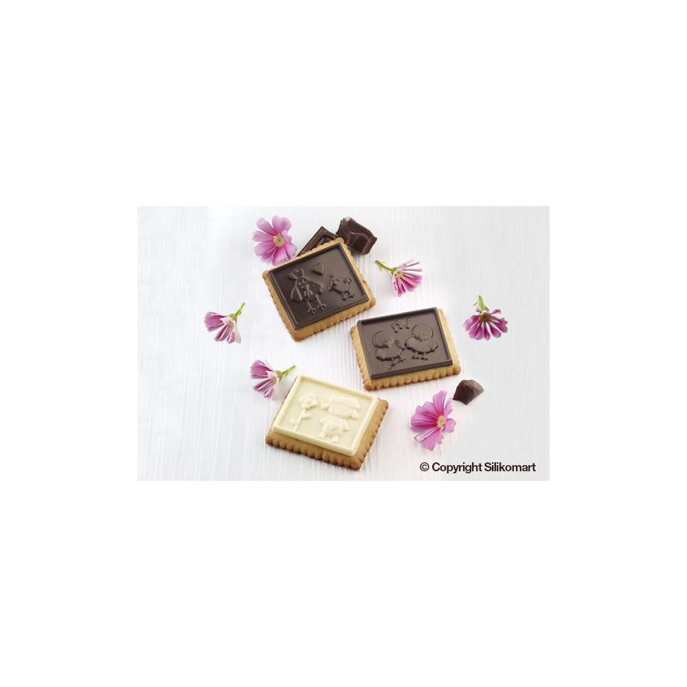 """Kit biscuit """"petit écolier"""" silikomart"""