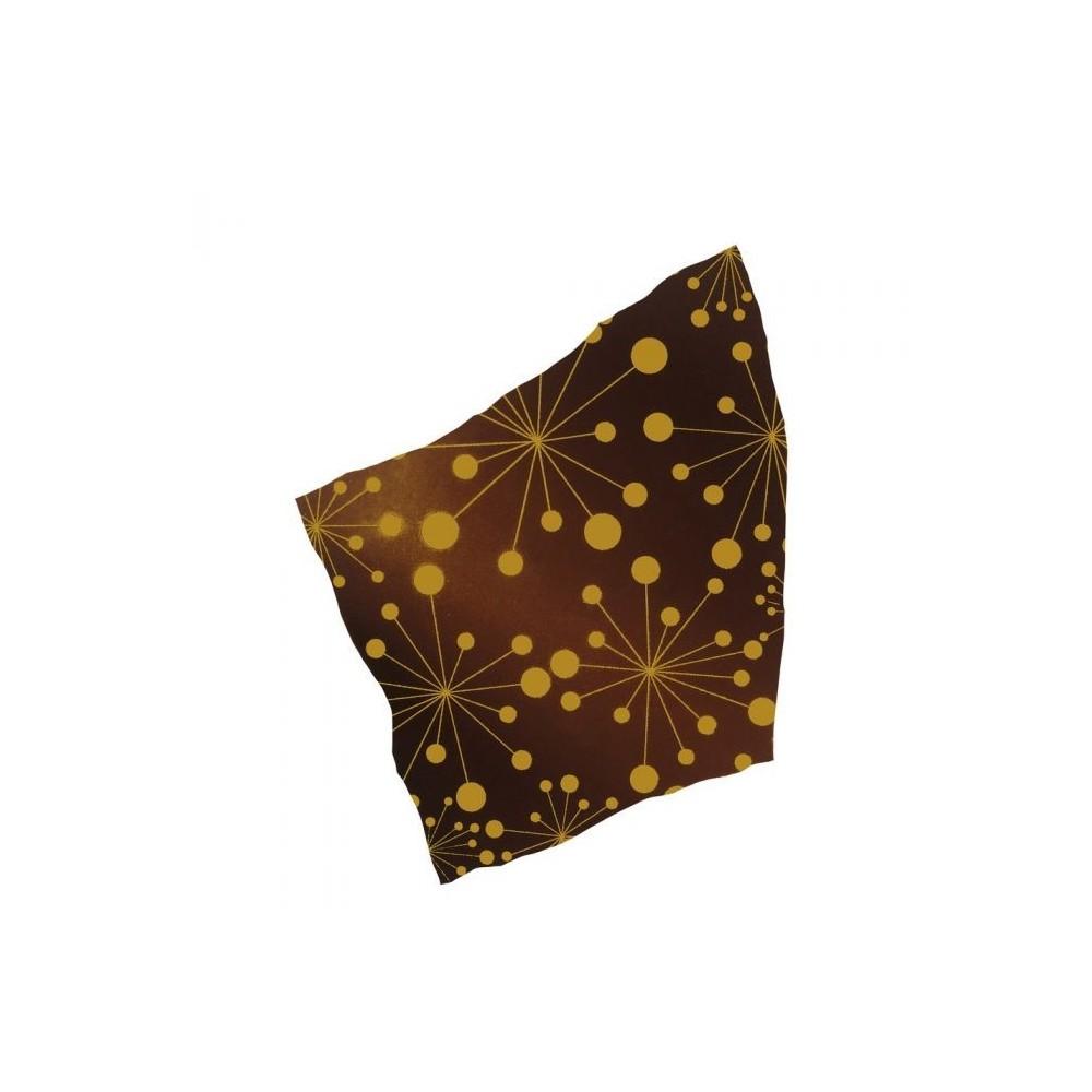 Feuilles de transfert planètes jaunes x4 Valrhona