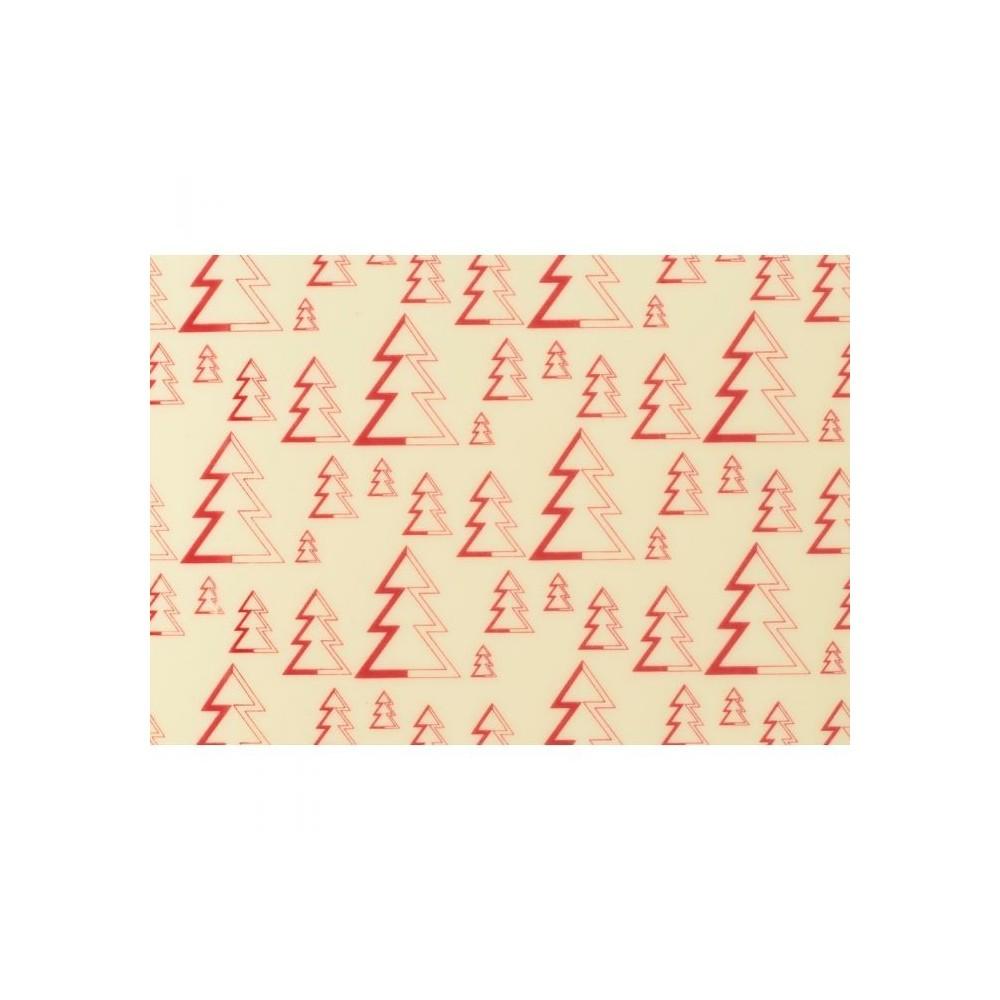 Feuilles de transfert sapins rouges x4 Valrhona