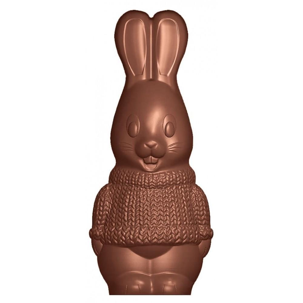 Moule à chocolat Lapin en tricot