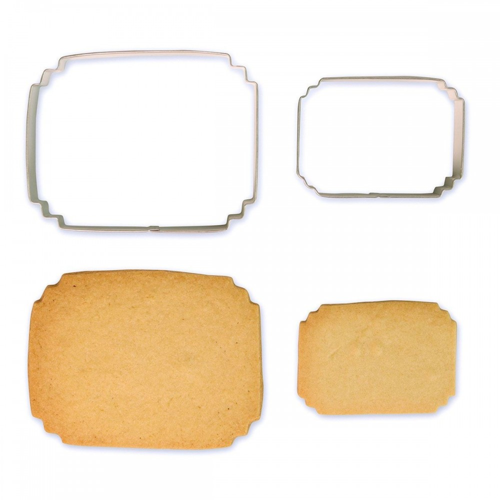 Emporte-pièce cadre rectangulaire x2
