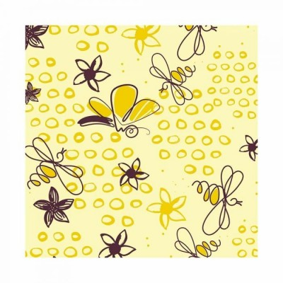 Feuilles de transfert papillons et abeilles x4 Valrhona