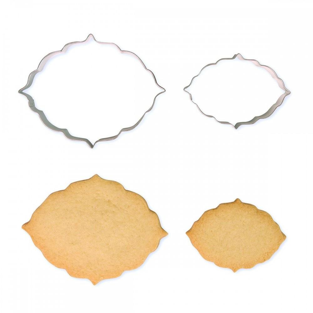 Emporte-pièce cadre oval x2