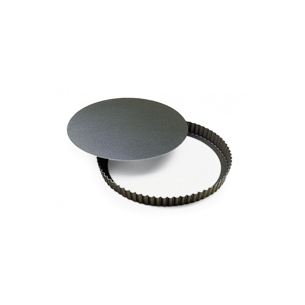Tourtière cannelée fond mobile ø20cm H3,5cm gobel