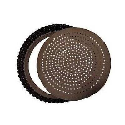Tourtière cannelée fond perforé mobile D20cm gobel