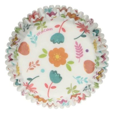 Caissettes motif floral x48 funcakes