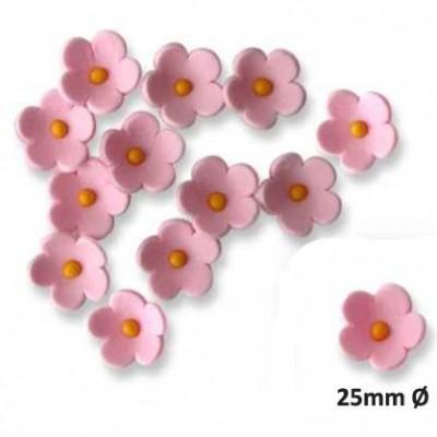 Fleurs en sucre roses x30