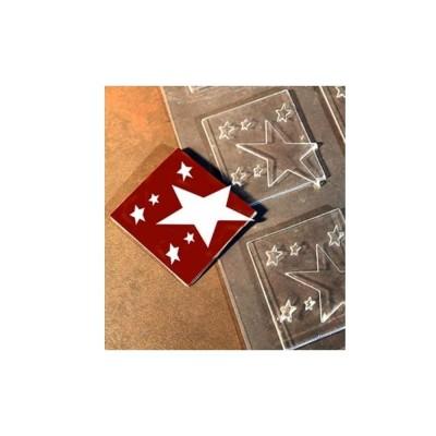Moule pour embout de bûche carré étoile