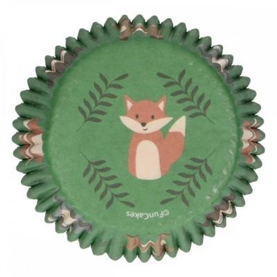 Caissettes animaux de la forêt x48 funcakes